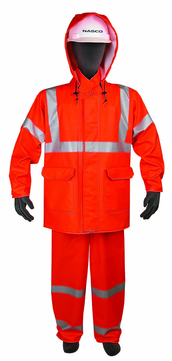 Rainwear Waist Length Jacket Arc Rating 16.5 cal/cm²