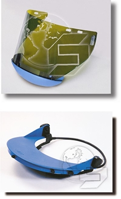 Arc Flash Faceshield with Chin Guard / Universal Hard Caps Assembly