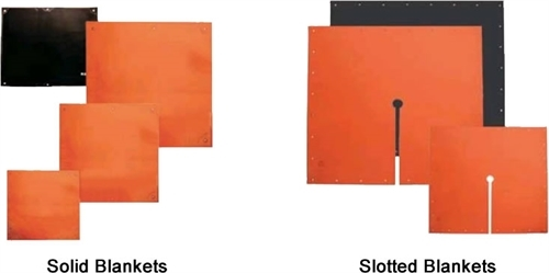 Slotted and Solid Insulating Blankets