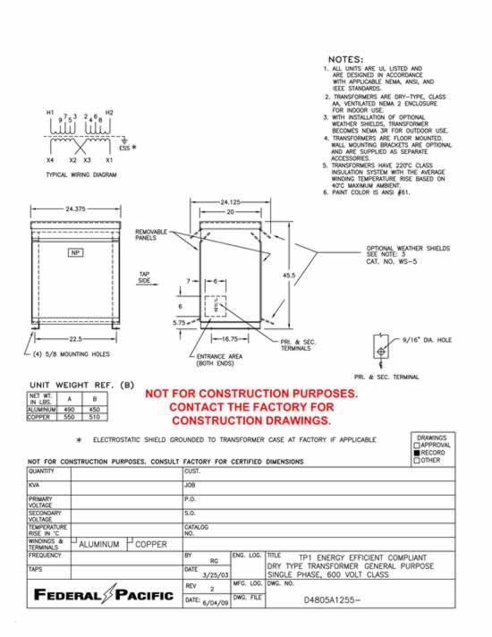 75 Kva Transformer Primary 240 X 480 Secondary 120 240