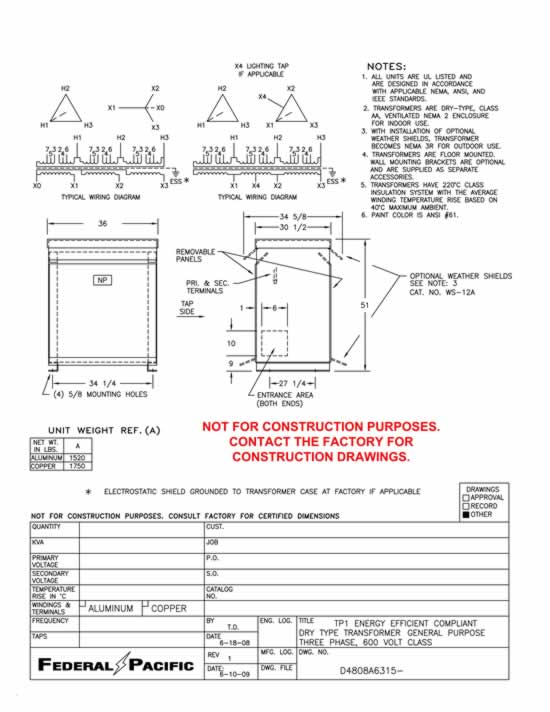 225 kva transformer primary 480 secondary 240 120 lt federal rh swgr com GE Transformer Catalog Marcus Transformer Inc