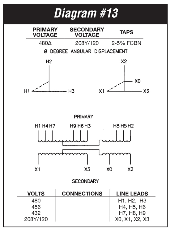te4d3f 3 kva federal pacific transformer te4d3f wiring diagram