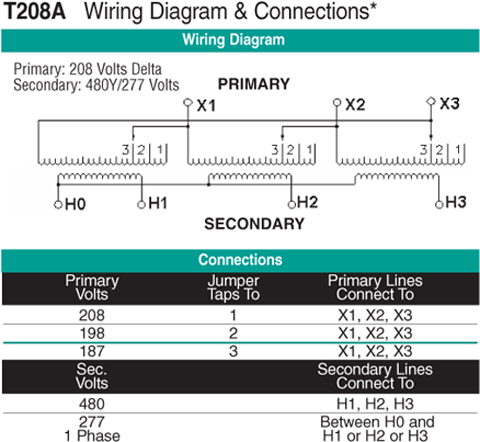 T208A Wiring Diagram